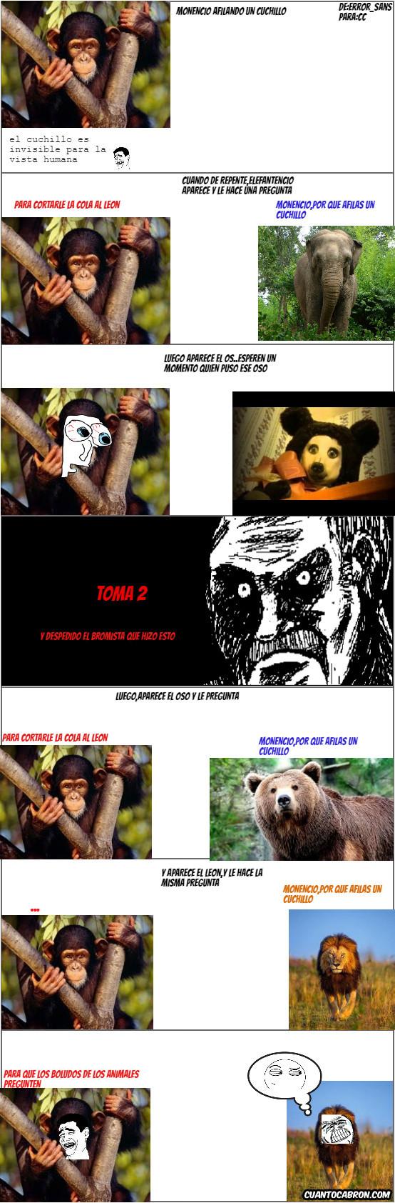 Animales,Crepypasta,Cuchillo,Elefantencio,Leon,Monencio,Oso normal,Oso Panda perro,Rage,Sospechoso