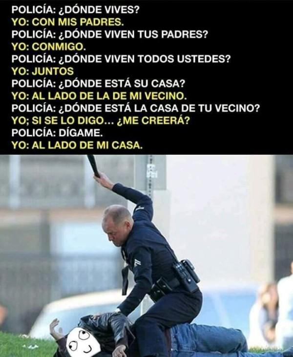 Otros - Cuando te pasas de listo con un policía