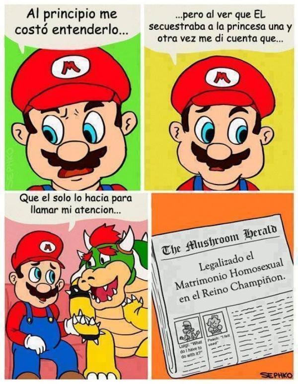Otros - El comic LGBT de Mario y Bowser que te hará estallar la cabeza