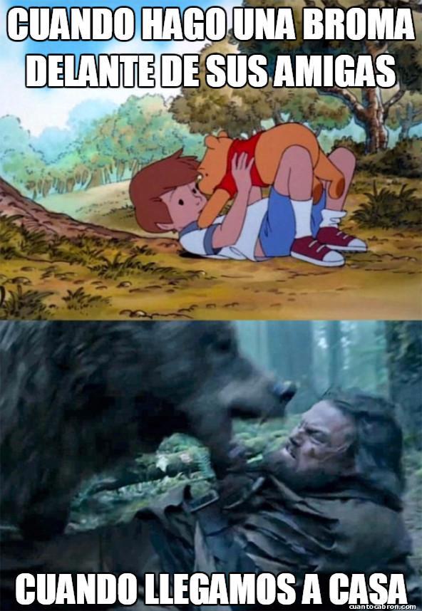 Bear_leo - Novia + Bromas = Mala combinación