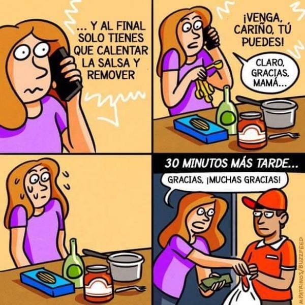 Otros - Cuando intentas cocinar por tu cuenta