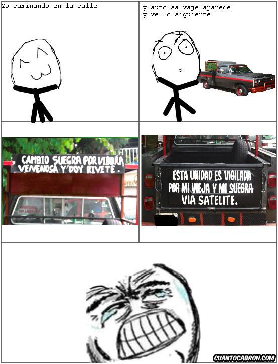Lol - El mejor cartel en un auto