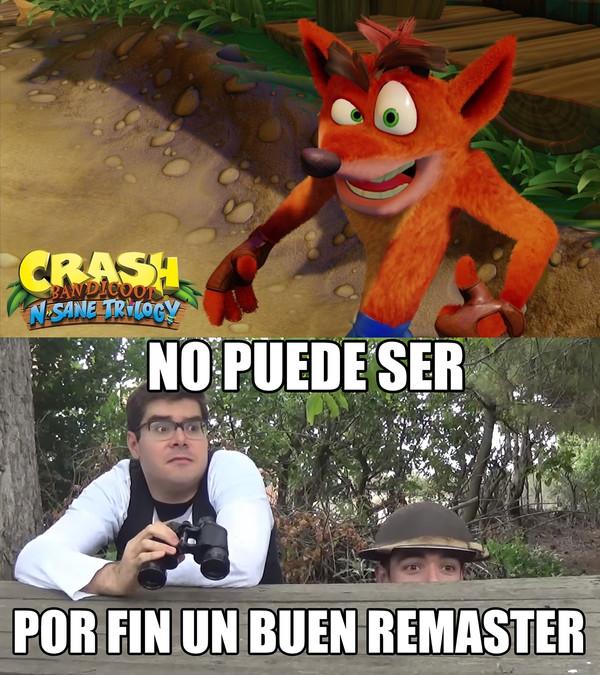 Meme_otros - El remaster de Crash Bandicoot me hace llora rde emoción