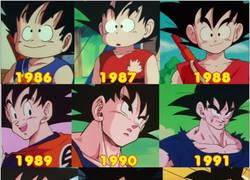 Enlace a La evolución de Goku con el paso de los años