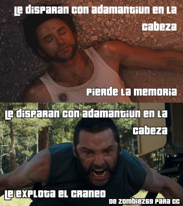 Meme_otros - Inconsistencia de Logan y Wolverine orígenes