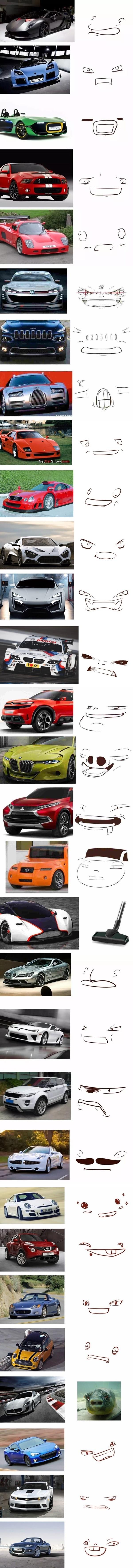 Meme_otros - Morros de coches que parecen caras