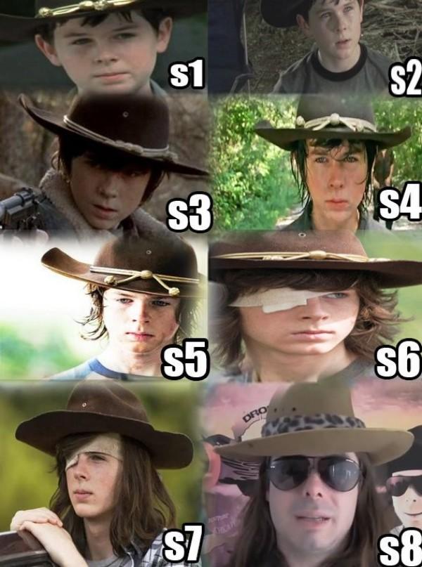 Meme_otros - La evolución de Carl en TWD