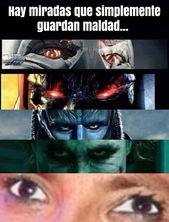 Meme_otros - Las miradas más malvadas