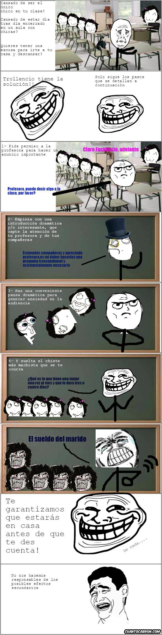Trollface - Cómo salir de clase en un santiamén