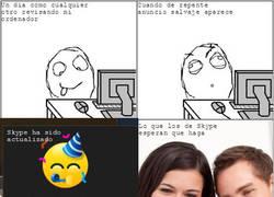 Enlace a Skype y sus fantasías