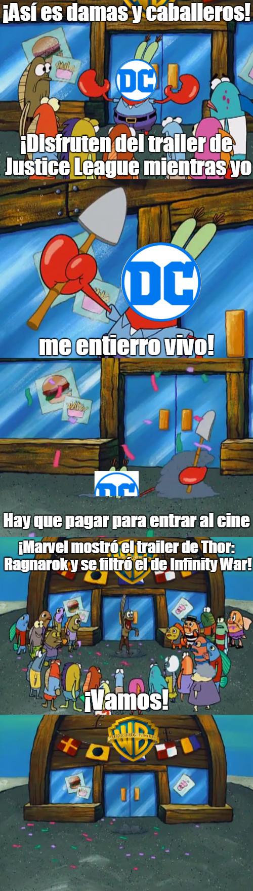 Meme_otros - Marvel arruinando la fiesta de DC