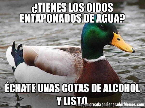 Pato_consejero - Cuando tienes agua en los oídos