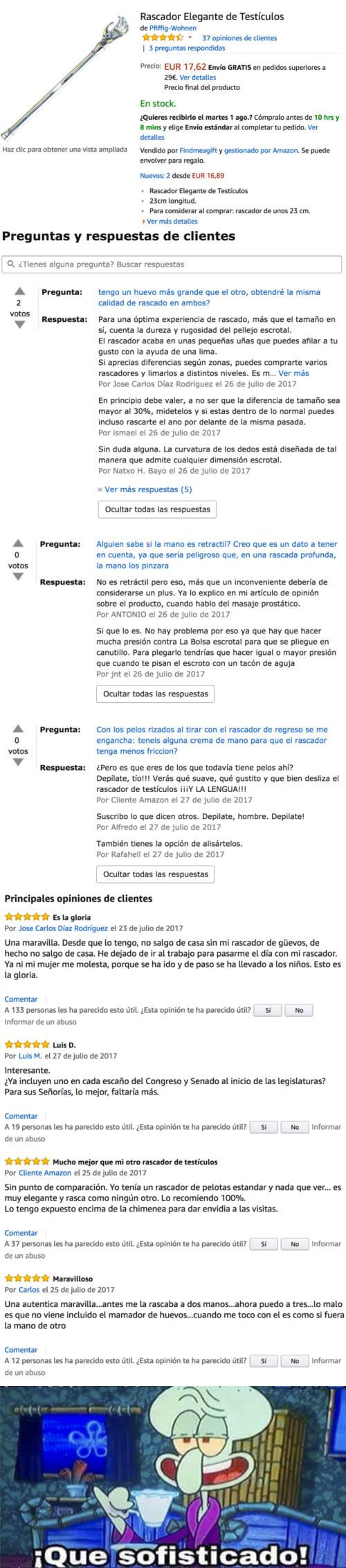 Meme_otros - Venden un rascador de huevos en Amazon y los comentarios es lo mejor que has leído en mucho tiempo