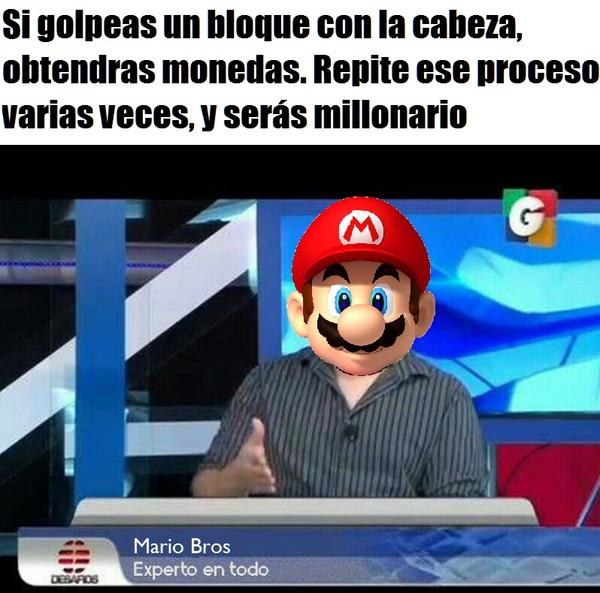 Meme_otros - Mario Bros, el experto en todo