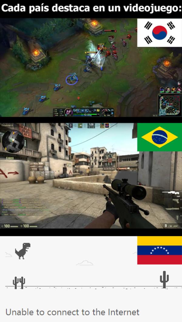 Meme_otros - El videojuego favorito de algunos países