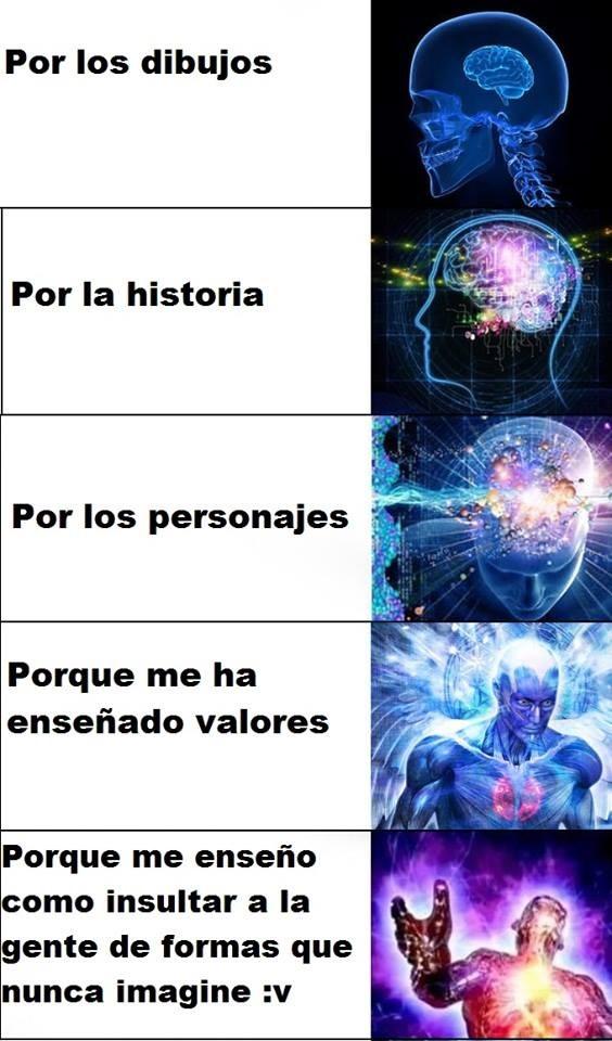 Meme_otros - Razones por las que me gusta el anime