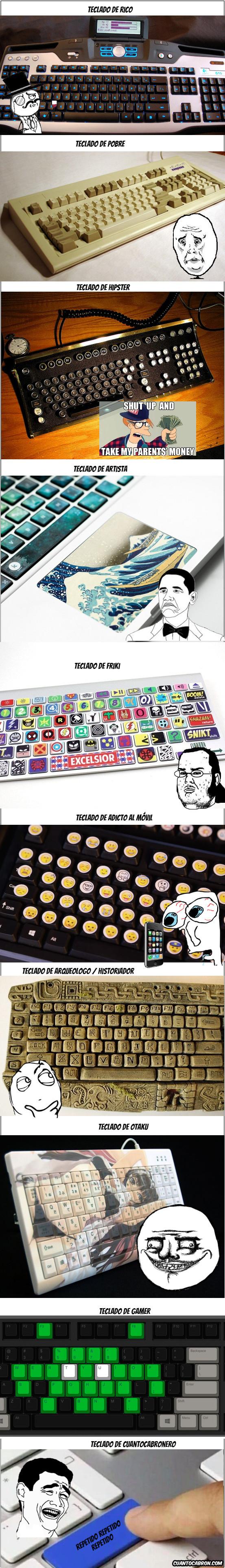 Yao - Diferentes tipos de teclado