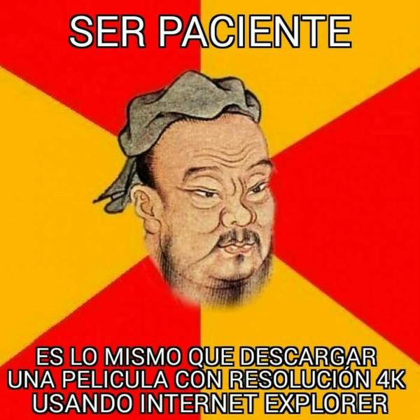 Meme_otros - Paciencia nivel: Confucio