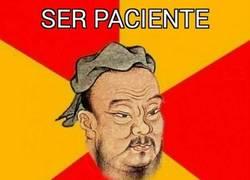 Enlace a Paciencia nivel: Confucio