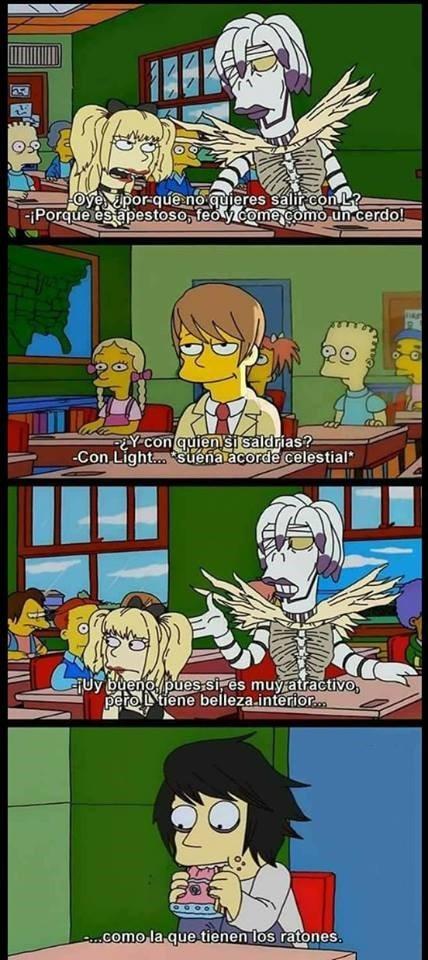 Meme_otros - Cuando Death Note llega a los Simpsons