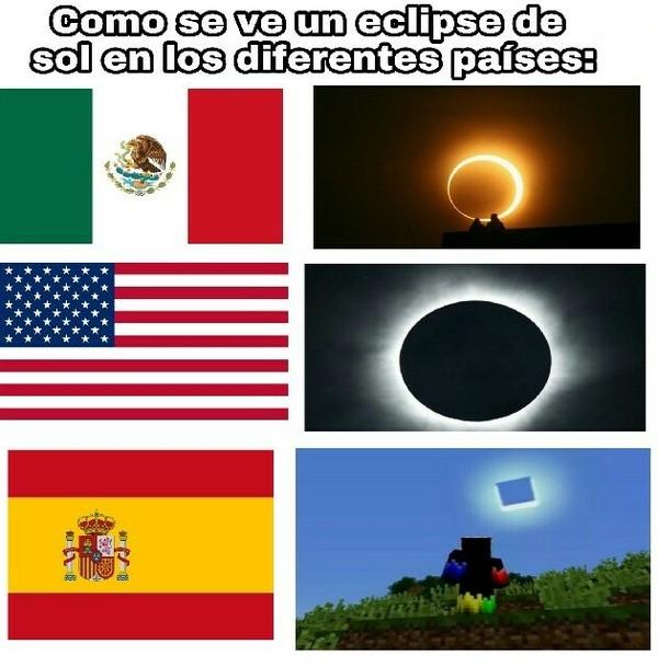 Otros - Eclipses en ciertos países