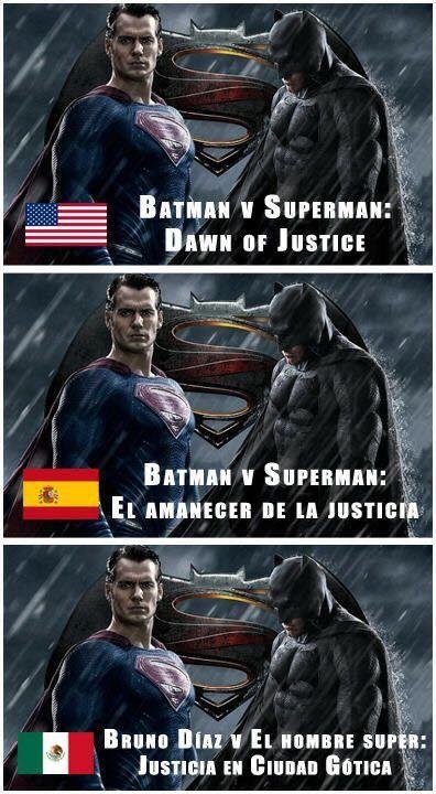 Meme_otros - Santas traducciones de Batman v Superman en diferentes países