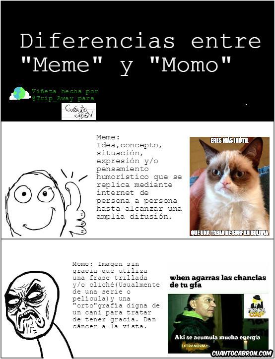 Infinito_desprecio - Diferencias entre meme y momo