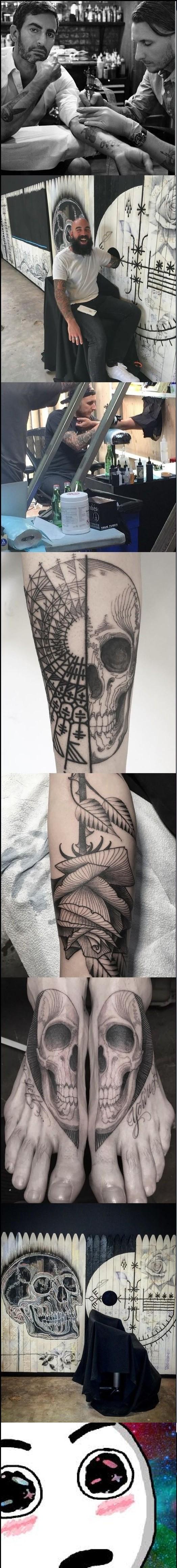 Amazed - Este hombre hace tatuajes gratis en cualquier parte del cuerpo mientras sea sorpresa