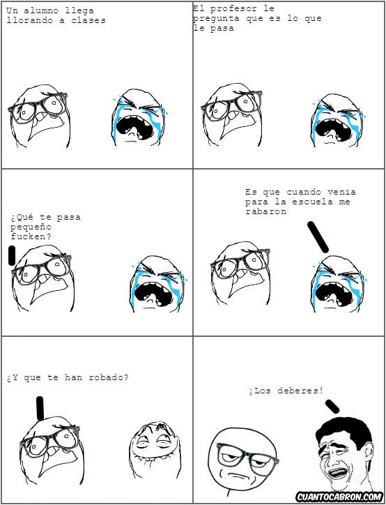 Kidding_me - ¡Mi*rda, los deberes!