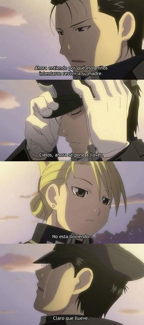 anime,Full metal alchemist brotherhood,llorar,madre,niños,revivir
