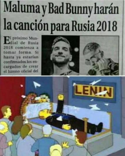 2018,bad bunny,lenin,maluma,mundial,rusia