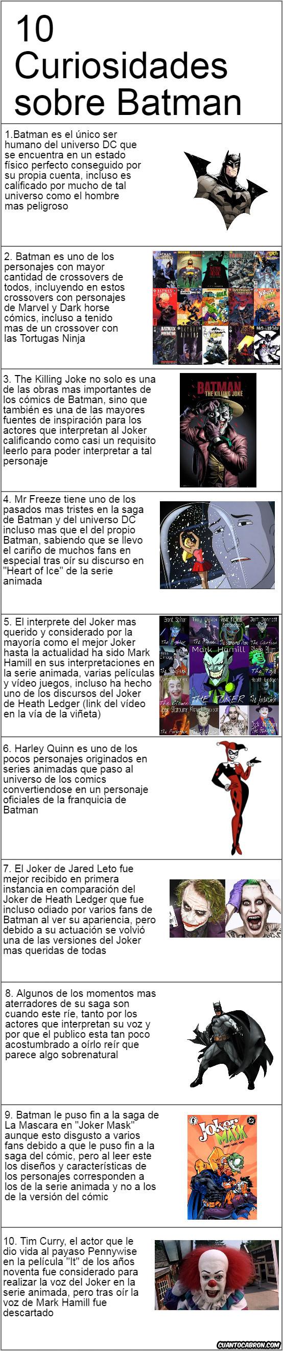 Otros - Curiosidades sobre Batman