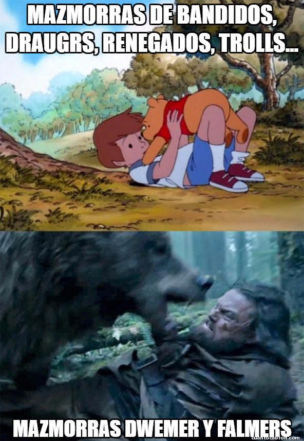 Bear_leo - En Skyrim hay algunos enemigos que te llegan al corazón