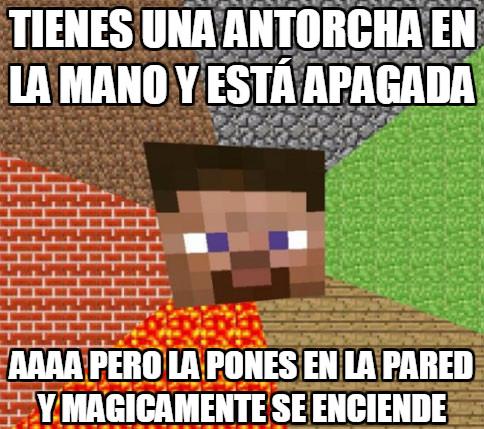Minecraft - Epica lógica de Minecraft