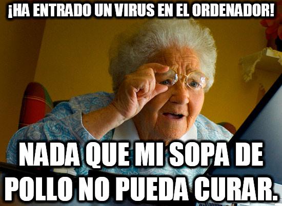 abuela,ordenador,virus