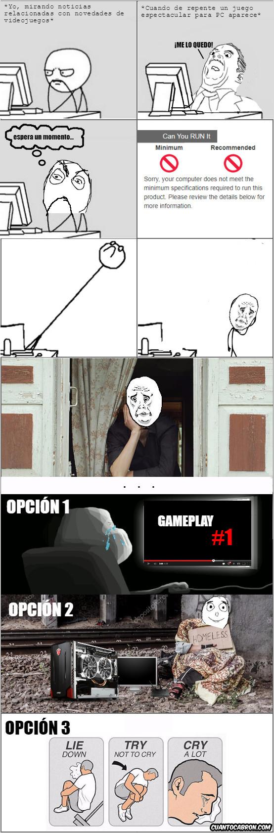 Otros - Cuando el PC no soporta el juego...