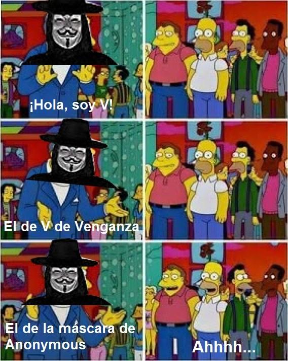 Meme_otros - Es V, no Anonymous