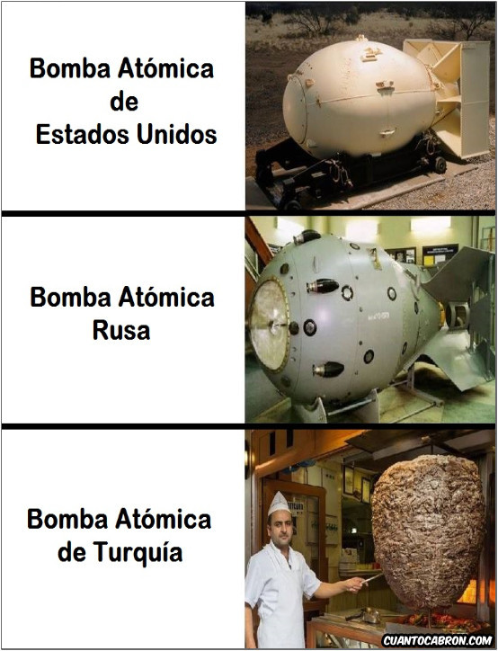 Otros - Bombas Atómicas según cada país
