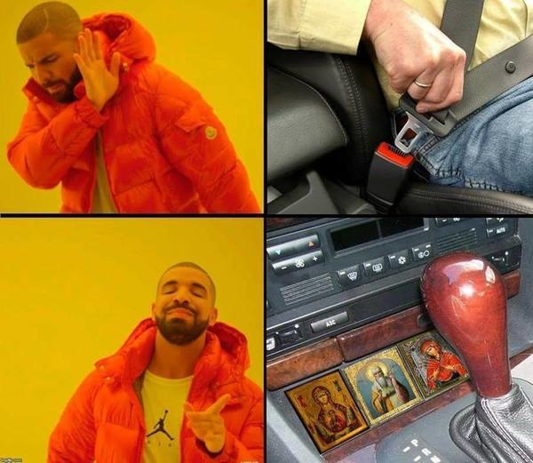 Meme_otros - Dos formas de sentirse seguro a bordo del coche