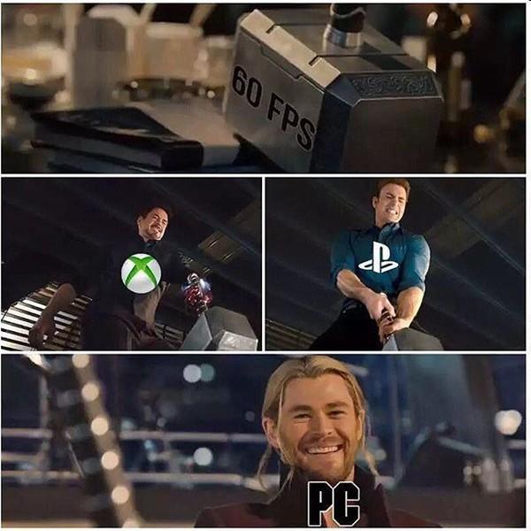 Meme_otros - El PC disfrutando con las desgracias ajenas