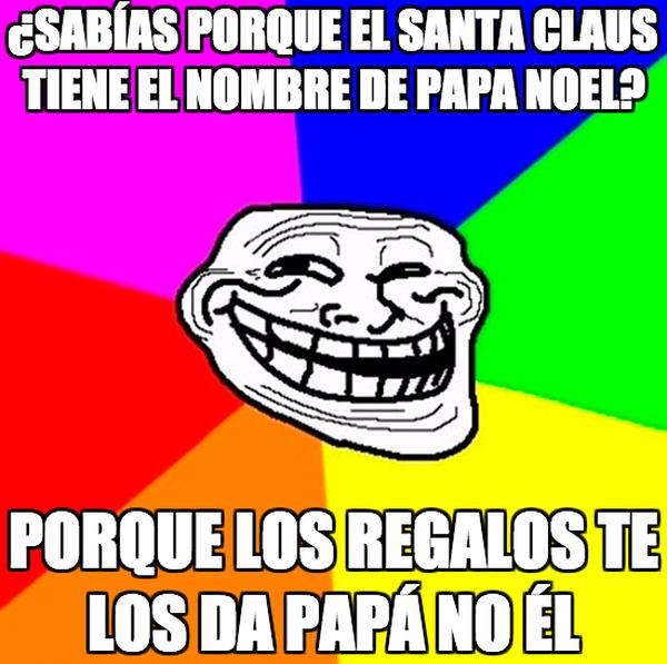 Meme_trollface - ¿Por qué Papá Noel?