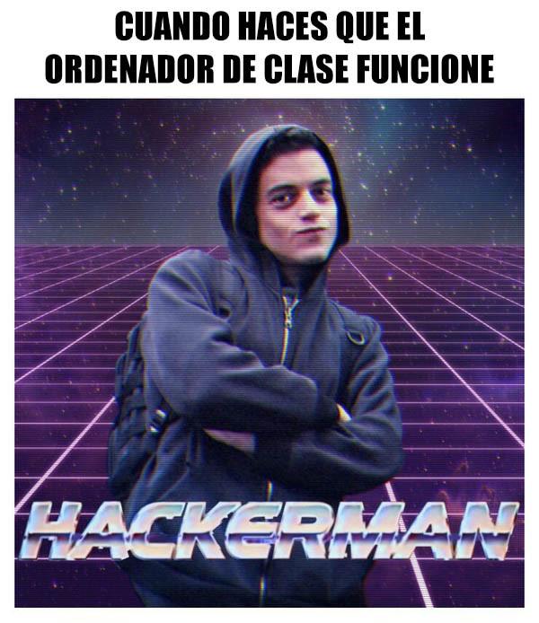 Meme_otros - Hacker en clase
