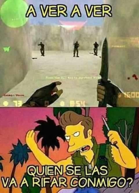 Meme_otros - Mezclamos Los Simpson con el Counter Strike