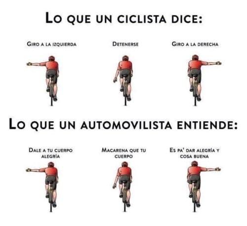 Meme_otros - Las señales de un ciclista