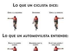 Enlace a Las señales de un ciclista