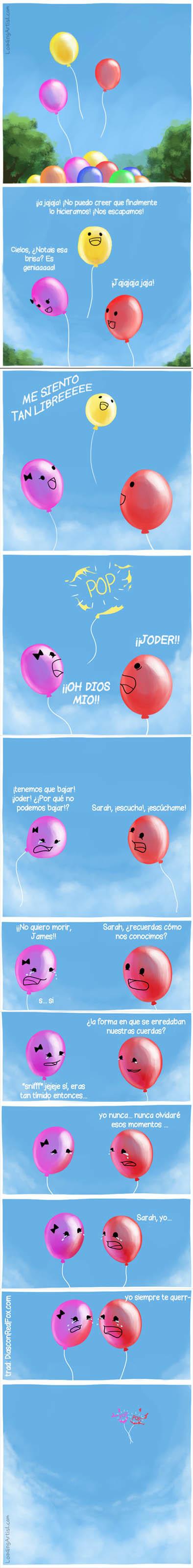 Otros - La historia de amor de dos globos con final trágico