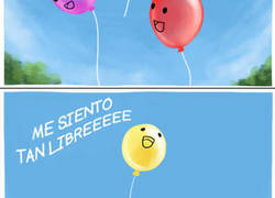 Enlace a La historia de amor de dos globos con final trágico