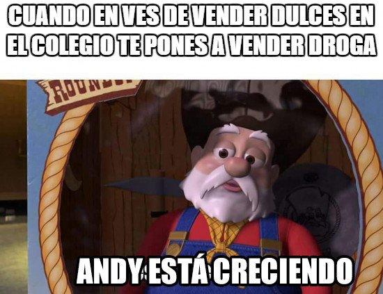 Meme_otros - La evolución de Andy