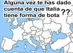 Enlace a La forma de Italia