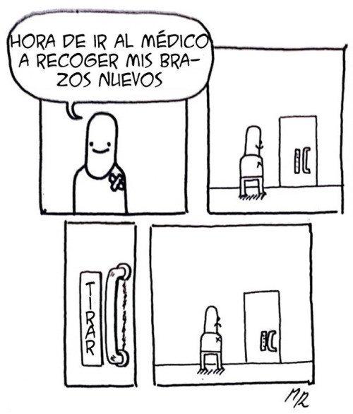 brazos,médico,puerta,tirar
